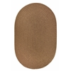 Rhody Rug WearEver Lt. Brown Poly 8X11 Oval