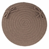"WearEver Dark Taupe Poly 15"" Chair Pad"