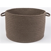 "WearEver Dark Taupe Poly 18"" x 12"" Basket"