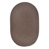 WearEver Dark Taupe Poly 3X5 Oval
