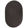 WearEver Brown Velvet Poly 7X9 Oval