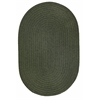 Rhody Rug WearEver Dark Sage Poly 3X5 Oval