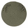 "WearEver Dark Sage Poly 15"" Chair Pad"