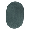 Rhody Rug WearEver Teal Poly 8X11 Oval