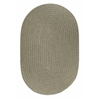 Rhody Rug WearEver Moss Green Poly 2X6 Oval