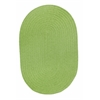 Rhody Rug WearEver Key Lime Poly 4X6 Oval