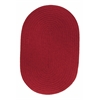 Rhody Rug WearEver Brilliant Red Poly 5X8 Oval