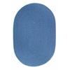 Rhody Rug WearEver French Blue Poly 8X11 Oval