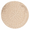 "Rhody Rug Solid Sand Wool 15"" Chair Pad"