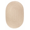 Solid Sand Wool 7X9 Oval