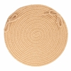 "Rhody Rug Solid Wheat Wool 15"" Chair Pad"