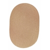 Solid Wheat Wool 2X6 Oval