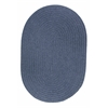Solid Sailor Blue Wool 7X9 Oval