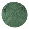 "Solid Hunter Green Wool 15"" Chair Pad"