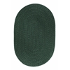 Solid Hunter Green Wool 5X8 Oval