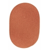 Solid Terra Cotta Wool 7X9 Oval
