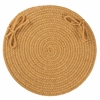 "Solid Vintage Gold Wool 15"" Chair Pad"