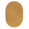 Solid Vintage Gold Wool 10X13 Oval