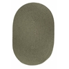 Solid Moss Green Wool 2X6 Oval