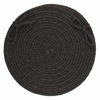 "Rhody Rug Solid Black Wool 15"" Chair Pad"