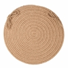 "Rhody Rug Solid Taupe Wool 15"" Chair Pad"