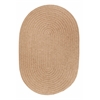 Solid Taupe Wool 5X8 Oval