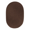 Rhody Rug Solid Walnut Wool 2X8 Oval
