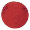 "Solid Scarlet Wool 15"" Chair Pad"