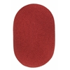 Solid Scarlet Wool 7X9 Oval