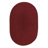 Solid Barn Red Wool 5X8 Oval