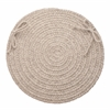 "Solid Lt. Gray Wool 15"" Chair Pad"