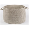 "Solid Lt. Gray Wool 18"" x 12"" Basket"