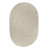 Solid Lt. Gray Wool 7X9 Oval