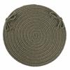 """Rhody Rug Solid Dk. Sage Wool 15"""" Chair Pad"""