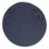 "Solid Navy Wool 15"" Chair Pad"