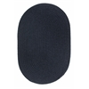 Solid Navy Wool 7X9 Oval