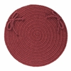 "Rhody Rug Solid Red Wine Wool 15"" Chair Pad"