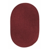 Rhody Rug Solid Red Wine Wool 5X8 Oval