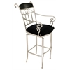 Pacifica Swivel Barstool, Black