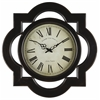 Lindsey Clock, Distressed Black Finish, Under Glass