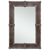 Lamare Mirror, Black Finish with Rust Overtones