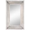Garner Mirror, Aged Silver Finish, Beveled Mirror
