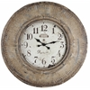Cooper Classics Kensington Clock, Distressed Light Brown Finish with Cream Highlights, Under Glass