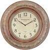 Mackenzie Clock, Aged Copper Finish, Under Glass