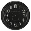 Norton Clock, Aged Black Finish, Under Glass