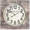 Augusta Clock, Distressed White Wash Finish, Under Glass