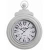 Dillon Clock, Distressed Cream Finish, Under Glass