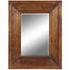 Canon Mirror, Natural Rustic Wood Finish, Beveled Mirror
