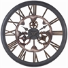 Senna Clock, Aged Black Rust Finish