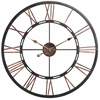 Mallory Clock, Aged Copper Finish with Black Highlights